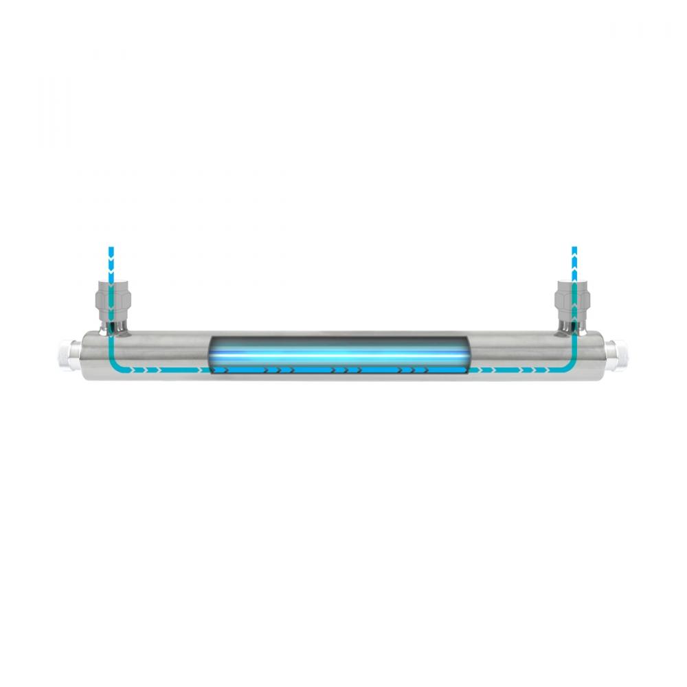 """На изображении Ультрафиолетовый обеззараживатель Ecosoft E-360 6GPM/1360 LPH 1"""" NPT"""