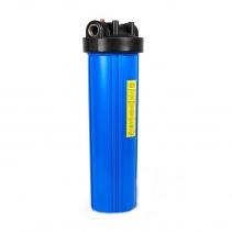 На изображении Фильтр Ecosoft Big Blue 20 с механическим картриджем