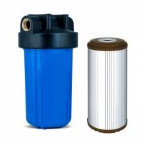 На изображении Фильтр Ecosoft Big Blue 10 с обезжелезивающим картриджем