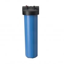 На изображении Фильтр Ecosoft Big Blue 20 с обезжелезивающим картриджем