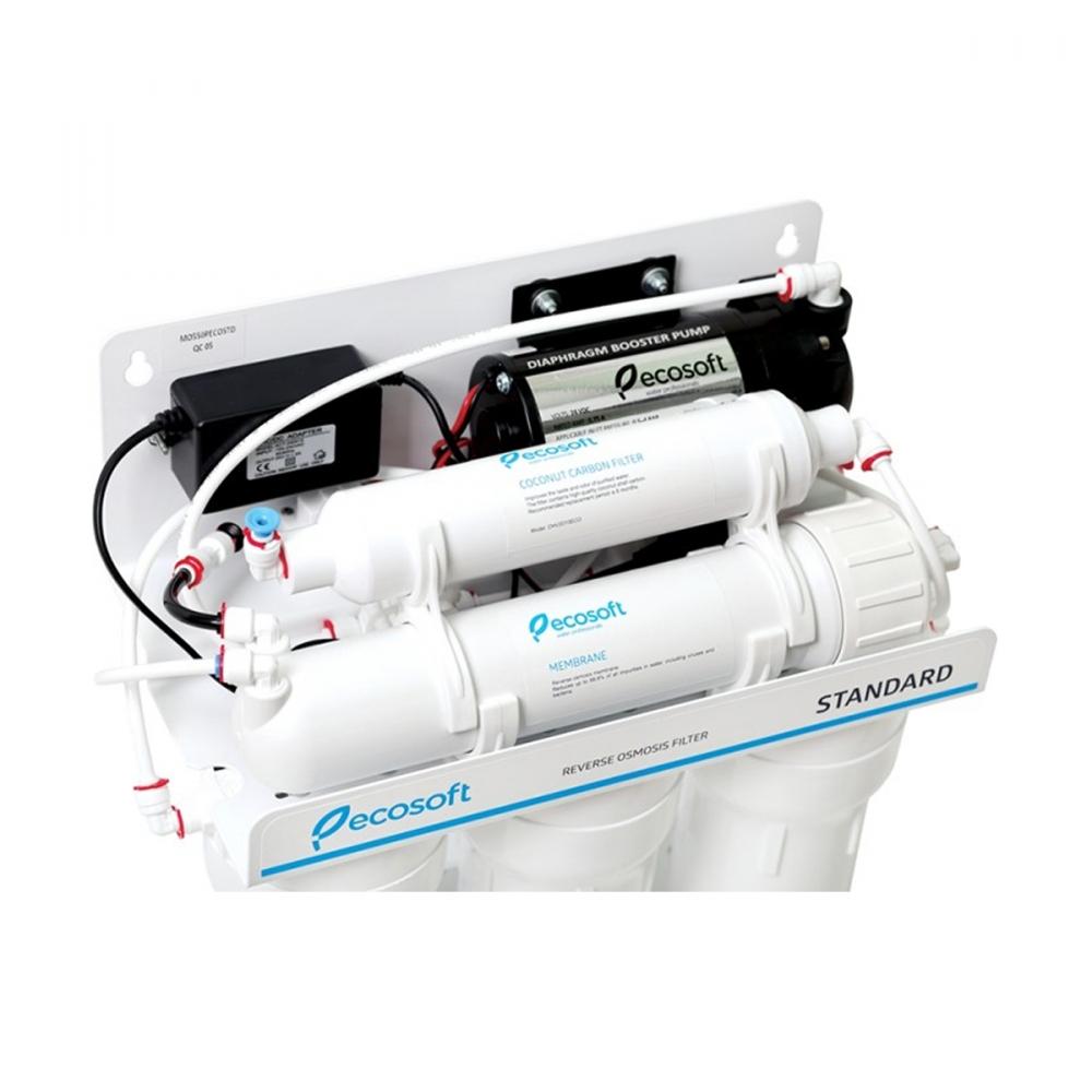 На изображении Фильтр обратного осмоса Ecosoft Standart 5-50 P с насосом