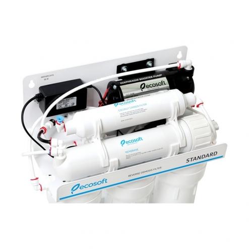 Фото 3 - На изображении Фильтр обратного осмоса Ecosoft Standart 5-50 P с насосом