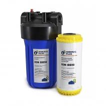 На изображении Фильтр Mineral plus Big Blue 10 с картриджем для умягчения (катионитовая смола)