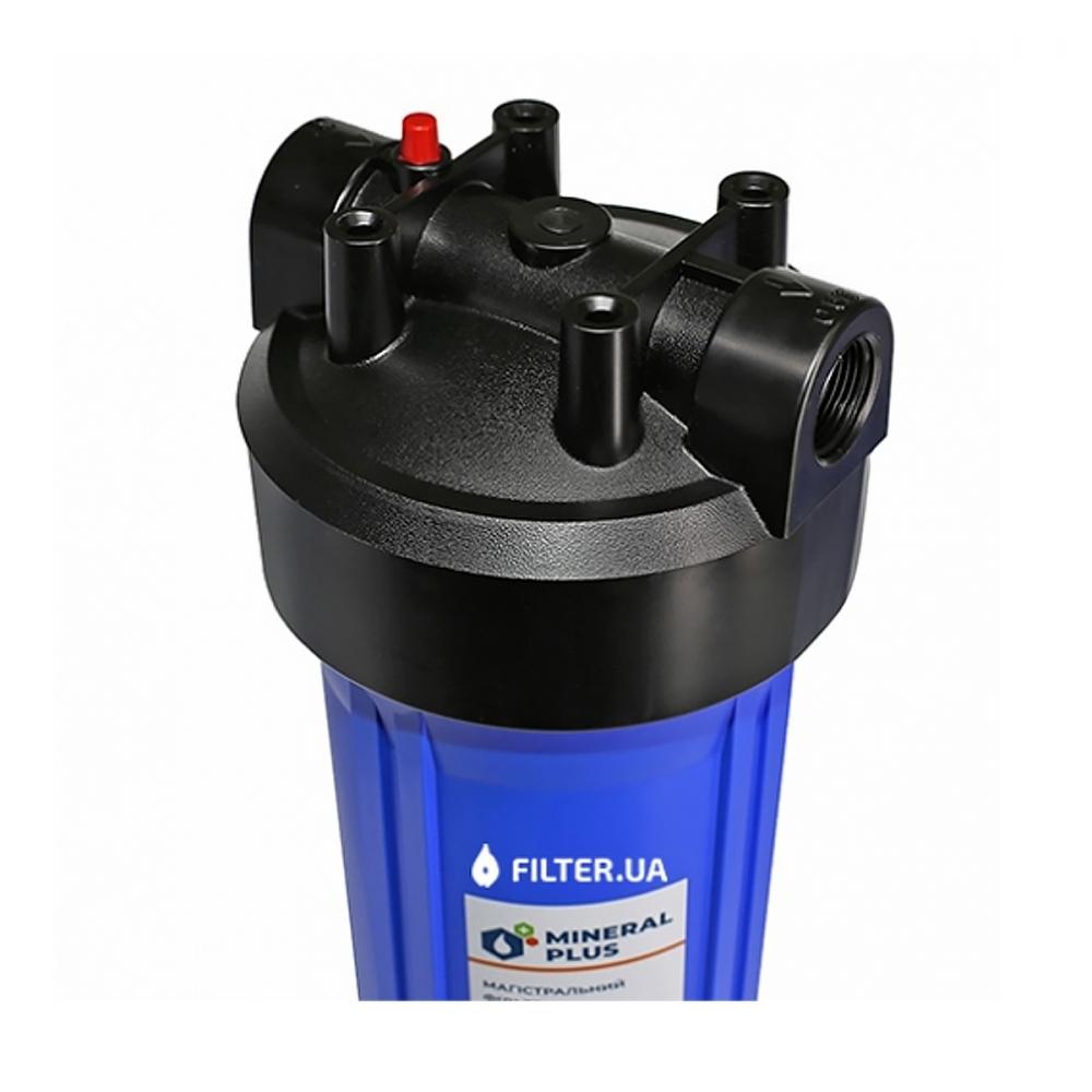 На изображении Фильтр Mineral plus Big Blue 20 с картриджем для умягчения (катионитовая смола)
