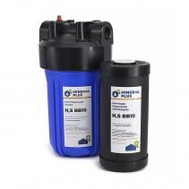 На изображении Фильтр Mineral plus Big Blue 10 с картриджем для удаления сероводорода