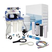 Система обратного осмоса Aquafilter RP-RO7-75 с насосом и ионизатором AIFIR2000