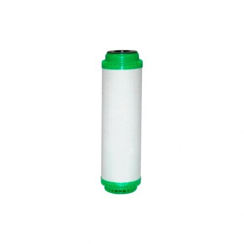 Фото 1 - На изображении Картридж с активированным углём и засыпкой Aquafilter KDF, FCCBKDF