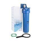 Фото 2 - На изображении Фильтр Aquafilter Big Blue 20 с манометром без картриджа
