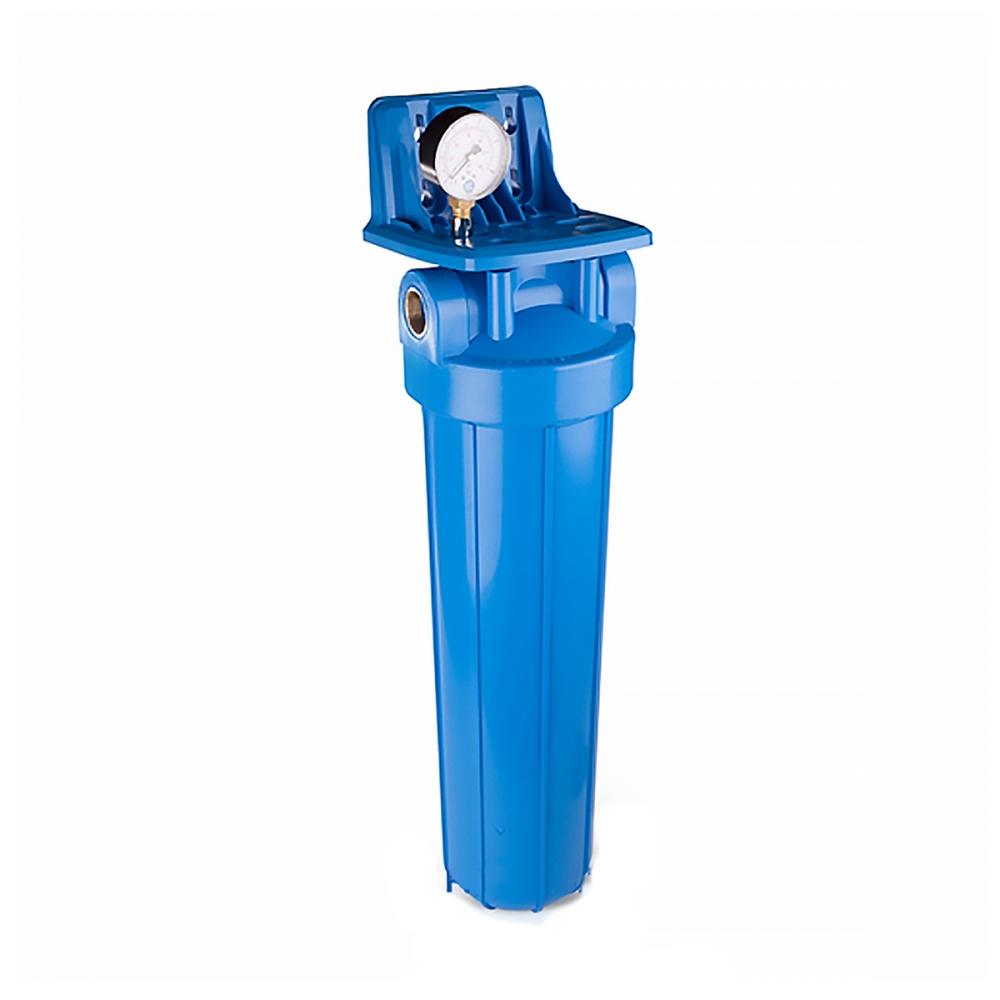 """На изображении Фильтр Aquafilter 20"""" Slim с угольным картриджем"""