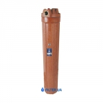 Фото 1 - На изображении Фильтр Aquafilter Big Blue 20 Slim для гор. воды с механическим картриджем