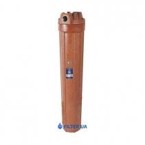 На изображении Фильтр Aquafilter Big Blue 20 Slim для гор, воды с механическим картриджем