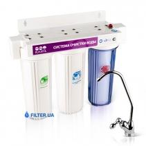 На изображении Проточный фильтр Raifil Trio PU905W3-WF14PR-EZ