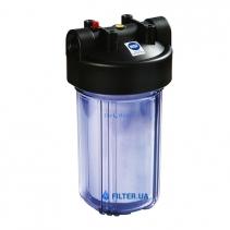 На изображении Фильтр прозрачный Raifil Big Blue 10 с механическим картриджем