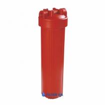 На изображении Фильтр для горячей воды Raifil Big Blue 20 без картриджа
