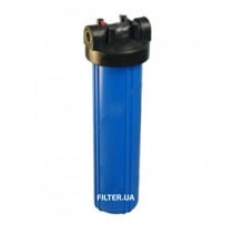 На изображении Фильтр Raifil Big Blue 20 с обезжелезивающим картриджем