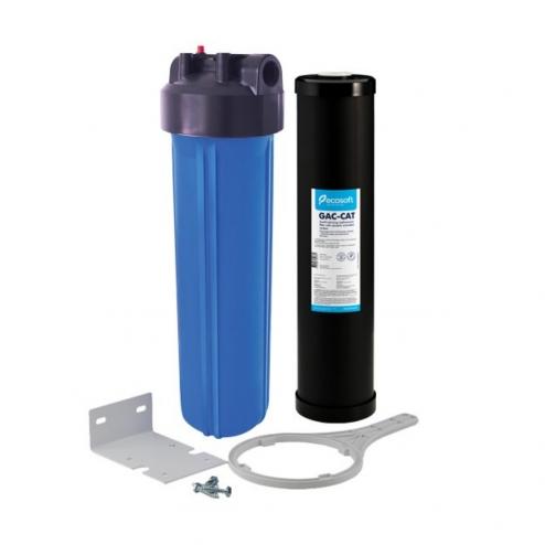 Фото 2 - На изображении Фильтр Organic Big Blue 20 с картриджем от сероводорода