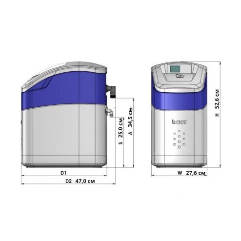 Фото 2 - На изображении Система умягчения воды BWT Perla Silk S