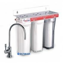 На изображении Проточный фильтр Новая Вода NW-F300-AG