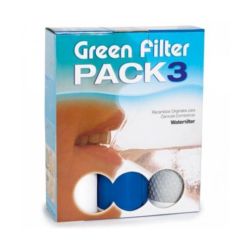 Фото 1 - На изображении Комплект картриджей pack 3 для питьевой системы RO Stella