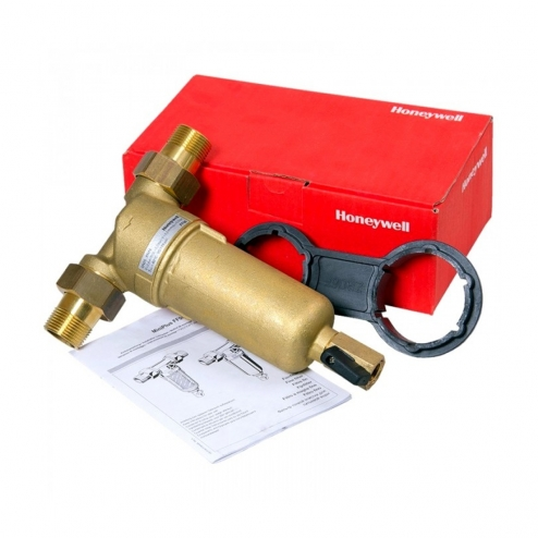 Фото 3 - На изображении Фильтр механической очистки HoneyWell FF06-AAМ 3/4 для горячей воды