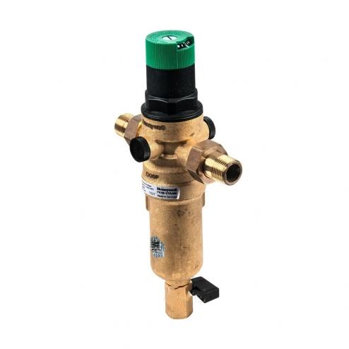 Фото 2 - На изображении Фильтр механической очистки HoneyWell FK06-AAМ 3/4 для горячей воды с редуктором