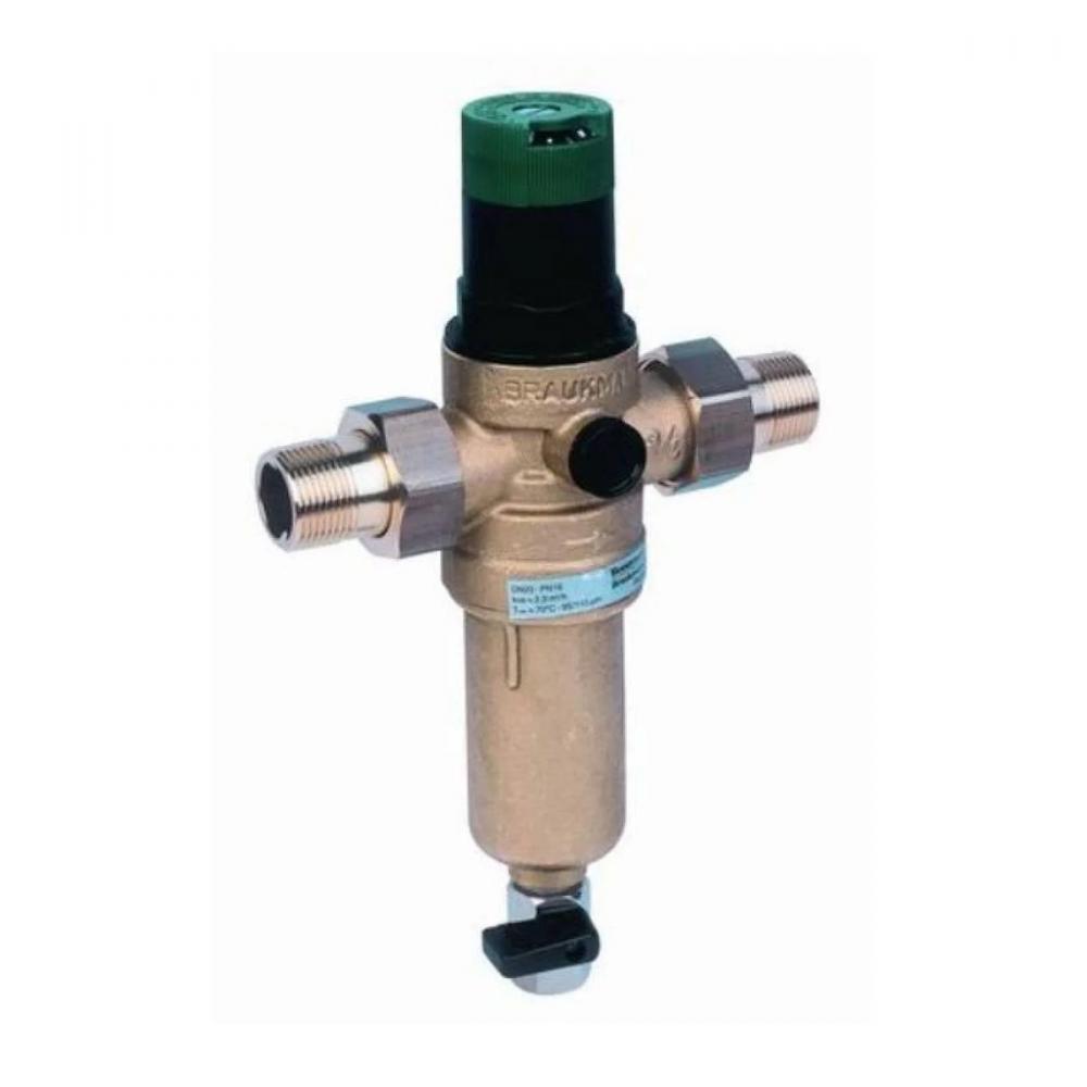 На изображении Фильтр механической очистки HoneyWell FK06-1 AAM для горячей воды с редуктором