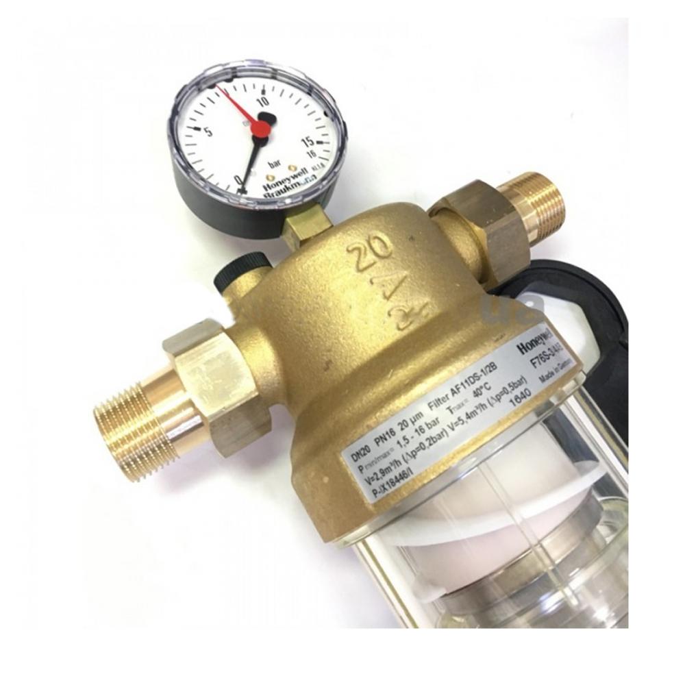 На изображении Фильтр механической очистки HoneyWell (Resideo Braukmann) F76S-3/4AA
