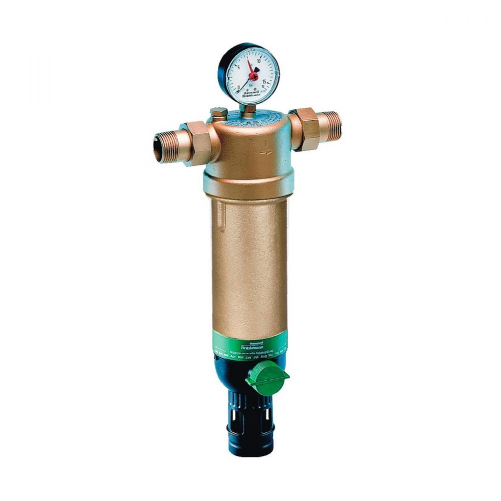 На изображении Фильтр механической очистки HoneyWell (Resideo Braukmann) F76S-11/4AAM для горячей воды