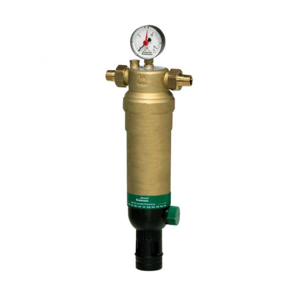 На изображении Фильтр механической очистки HoneyWell (Resideo Braukmann) F76S-11/2AAM для горячей воды