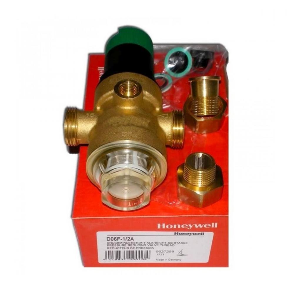 На изображении Редуктор понижения давления Honeywell D06F-1/2A для холодной воды