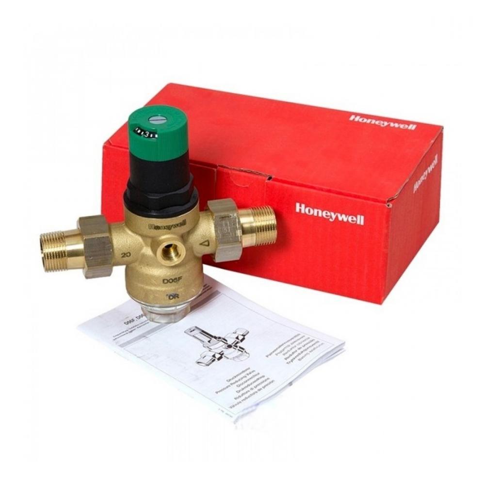 На изображении Редуктор понижения давления Honeywell D06F-3/4A для холодной воды
