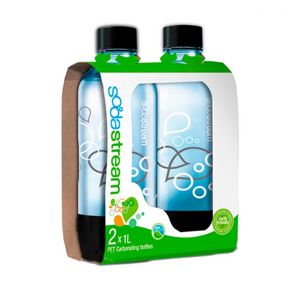 На изображении Пак из двух карбонированных бутылок 2х1л Sodastream