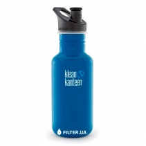 На изображении Бутылка Klean Kanteen Classic Sport 18oz/532ml Blue Planet