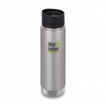 На изображении Термофляга Klean Kanteen Wide Vacuum Insulated Cafe Cap Brushed Stainless 592 ml