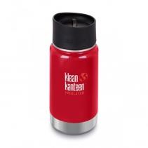 На изображении Термофляга Klean Kanteen Wide Vacuum Insulated Cafe Cap Shale Black (matt) 355 ml
