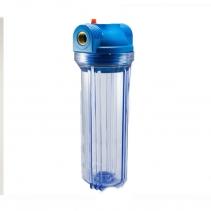 """На изображении Фильтр Мастерская Воды Slim 10 без картриджа FH 1/2"""" синий"""