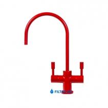 На изображении Кран Modern двойной Glossy Red - Глянцевый Красный