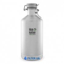 На изображении Термофляга для пива и газированных напитков Klean Kanteen Growler Brushed Stainless 1900 ml