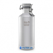 На изображении Термофляга для пива и газированных напитков Klean Kanteen Growler Brushed Stainless 946 ml