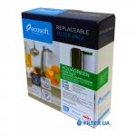 На изображении Комплект картриджей Ecosoft AquaGreen 1-2-3 для обратного осмоса