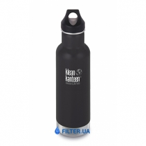 На изображении Термофляга Klean Kanteen Classic Vacuum Insulated Shale Black (matt) 592 ml