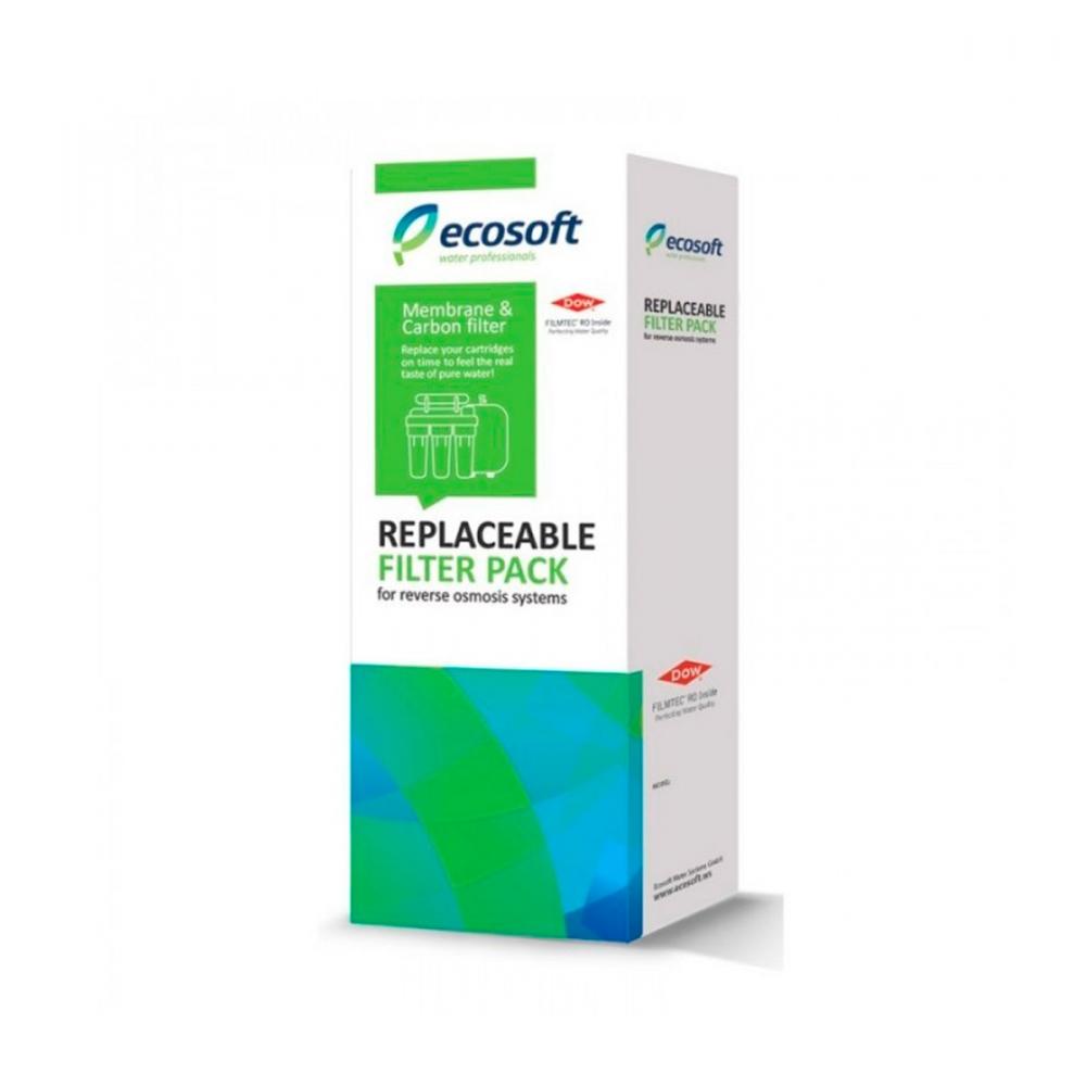 На изображении Комплект картриджей Ecosoft 4-5 для обратного осмоса