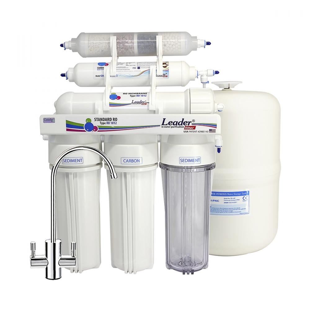 На изображении Фильтр обратного осмоса Leader Standart RO-5 pH-био-корректор