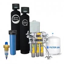 На изображении Готовое решение очистки воды из скважины Ionix Extra Premium