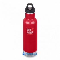 На изображении Термофляга Klean Kanteen Classic Vacuum Insulated Mineral Red 592 ml