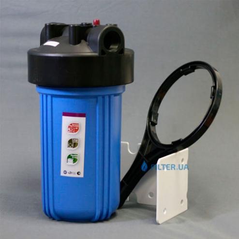 Фото 2 - На изображении Фильтр Raifil Big Blue 10 с обезжелезивающим картриджем