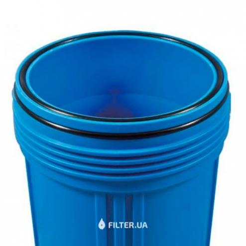 Фото 2 - На изображении Фильтр Raifil Big Blue 20 с обезжелезивающим картриджем