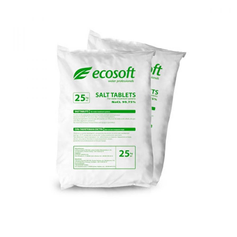 На изображении Соль таблетированная ECOSIL, мешок 25 кг