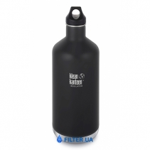 На изображении Термофляга Klean Kanteen Classic Vacuum Insulated Shale Black (matt) 1900 ml