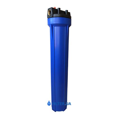"""На изображении Фильтр Aquafilter 20"""" Slim с обезжелезивающим картриджем"""